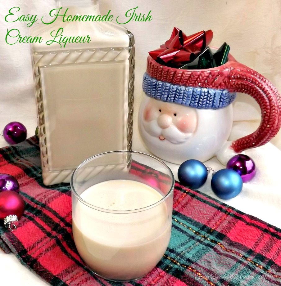 Easy Homemade Irish Cream Liqueur