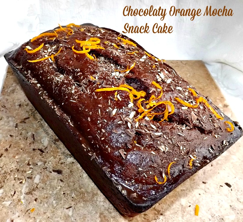 Chocolaty Orange Mocha Snack Cake