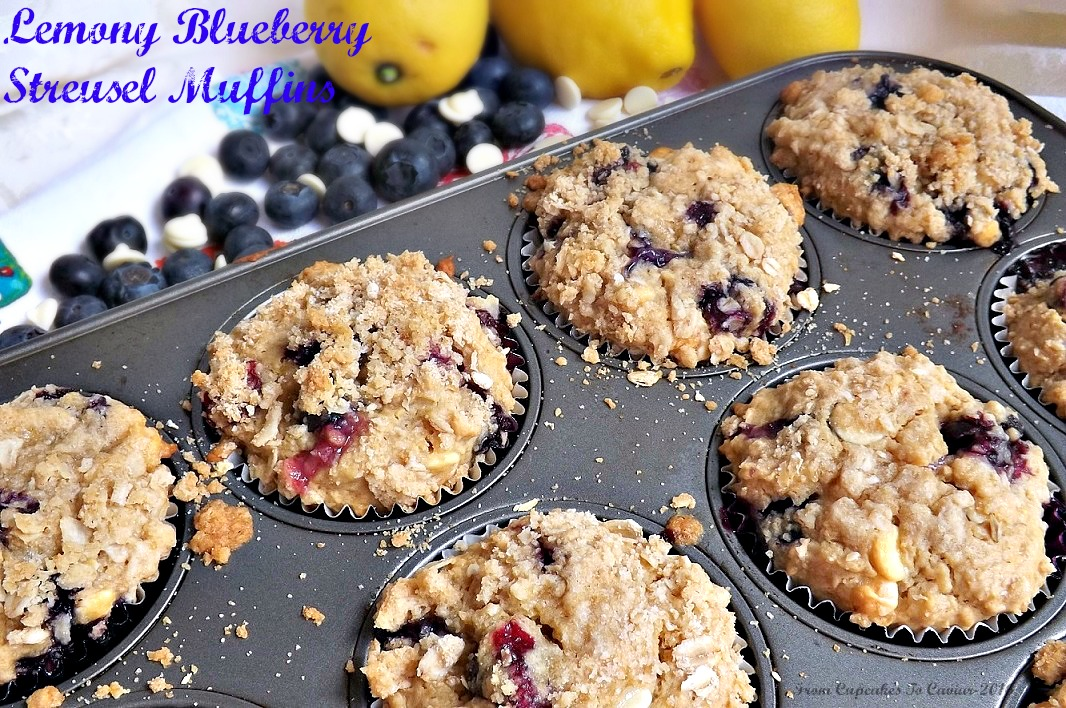 Lemony Blueberry Streusel Muffins