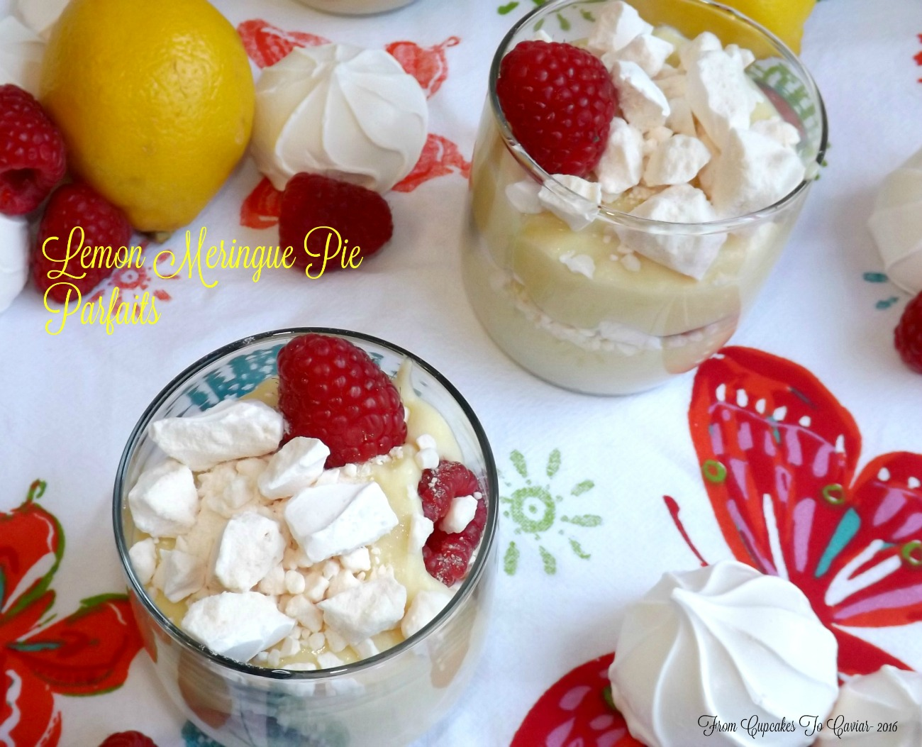 Lemon Meringue Pie Parfaits