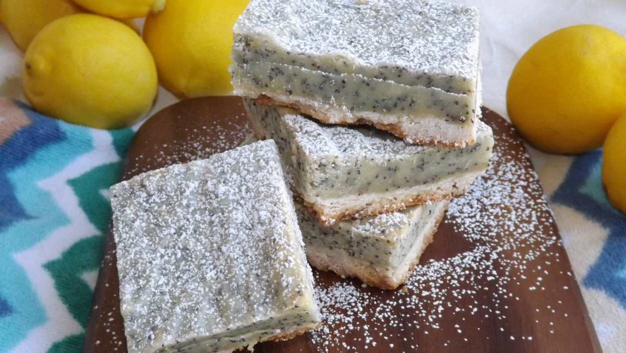 Lemon Poppyseed Gooey Butter Bars
