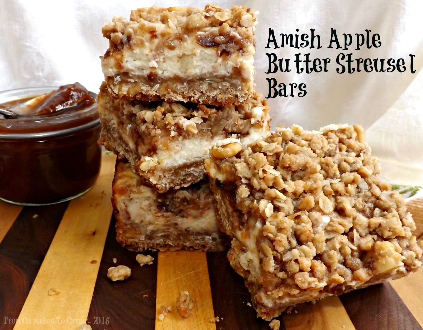 Amish Apple Butter Streusel Bars