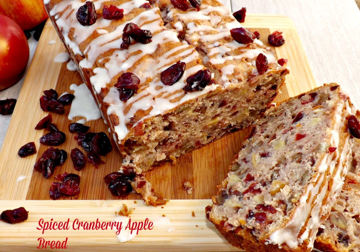 Spiced Cranberry Apple Bread